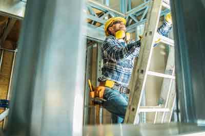 Poolse arbeider op de bouw