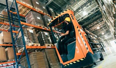 Logistiek buitenlandse werknemers koerier